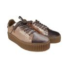 Chaussures de sport GUESS Doré, bronze, cuivre