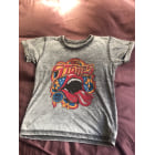 Top, Tee-shirt LITTLE ELEVEN PARIS Gris, anthracite