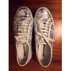 Chaussures de sport SUPERGA Argenté, acier
