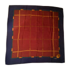 Foulard CHANEL Bordeaux/Bleu