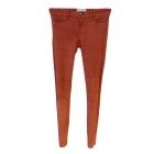 Pantalon slim, cigarette CURRENT/ELLIOTT Orange