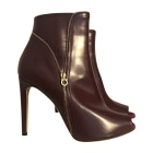 Bottines & low boots à talons SALVATORE FERRAGAMO Violet, mauve, lavande