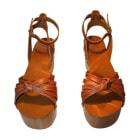 Sandales compensées ISABEL MARANT Caroll Marron