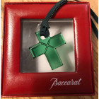 Pendentif, collier pendentif BACCARAT Vert
