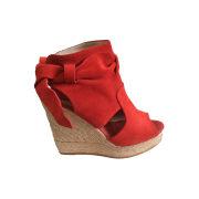 Wedge Sandals CLAUDIE PIERLOT Red, burgundy