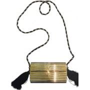 Sac en bandoulière en cuir YVES SAINT LAURENT Doré, bronze, cuivre
