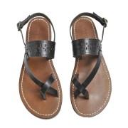 Sandales plates  SOEUR Noir