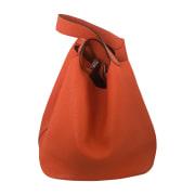 Leather Handbag HERMÈS Orange