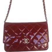 Leather Shoulder Bag CHANEL Red, burgundy