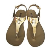 Flat Sandals MICHAEL KORS Golden, bronze, copper