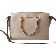 Leather Shoulder Bag MICHAEL KORS Golden, bronze, copper