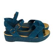 Sandales compensées LOUIS VUITTON Vert