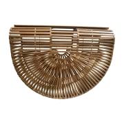 Leather Handbag CULT GAIA Beige, camel