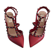 Pumps, Heels VALENTINO Red, burgundy