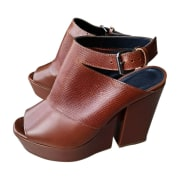 Wedge Sandals FAÇONNABLE Brown