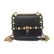 Leather Shoulder Bag FENDI Black