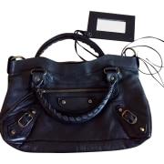 Leather Handbag BALENCIAGA First Black