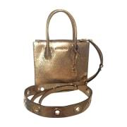 Sac en bandoulière en cuir MICHAEL KORS Doré, bronze, cuivre