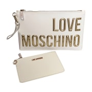 Leather Clutch LOVE MOSCHINO Beige, camel