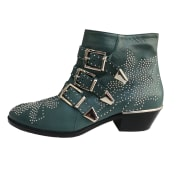 High Heel Ankle Boots CHLOÉ Blue, navy, turquoise