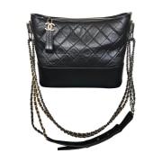 Leather Shoulder Bag CHANEL Gabrielle Black
