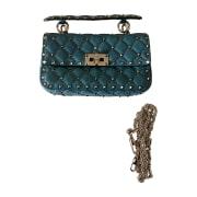 Leather Shoulder Bag VALENTINO Blue, navy, turquoise
