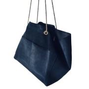 Sac XL en cuir SÉZANE Bleu, bleu marine, bleu turquoise