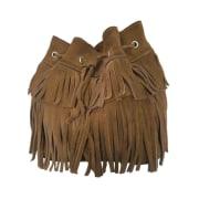Sac en bandoulière en cuir GERARD DAREL Beige, camel