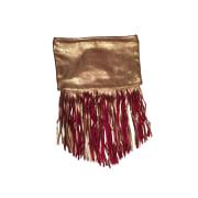 Clutch MAJE Golden, bronze, copper