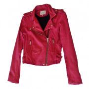 Leather Zipped Jacket IRO Pink, fuchsia, light pink