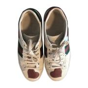 Sneakers GUCCI White, off-white, ecru