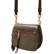 Leather Shoulder Bag MARC JACOBS Khaki