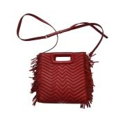 Leather Shoulder Bag MAJE rouge