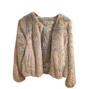 Manteau en fourrure SÉZANE Vert