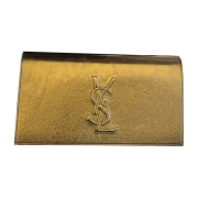 Leather Clutch YVES SAINT LAURENT Oro