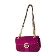 Leather Handbag GUCCI Purple, mauve, lavender