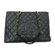 Leather Oversize Bag CHANEL Blue, navy, turquoise