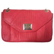 Leather Handbag SÉZANE Red, burgundy