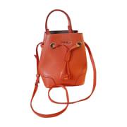 Leather Shoulder Bag FURLA Orange