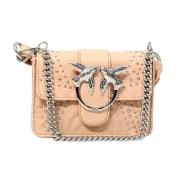 Leather Shoulder Bag PINKO Pink, fuchsia, light pink