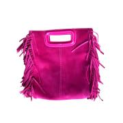 Leather Shoulder Bag MAJE Pink, fuchsia, light pink