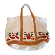 Non-Leather Handbag VANESSA BRUNO White, off-white, ecru