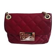 Leather Shoulder Bag MICHAEL KORS Red, burgundy
