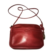 Leather Shoulder Bag LONGCHAMP Red, burgundy