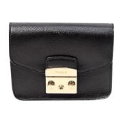 Leather Shoulder Bag FURLA Black
