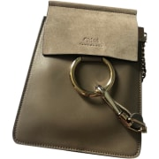 Leather Shoulder Bag CHLOÉ Gray, charcoal