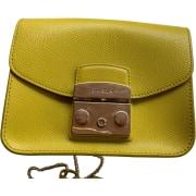 Leather Handbag FURLA Yellow