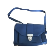 Leather Shoulder Bag SÉZANE Blue, navy, turquoise