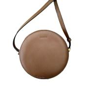 Leather Handbag SANDRO Brown