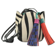 Leather Shoulder Bag VANESSA BRUNO Multicolor